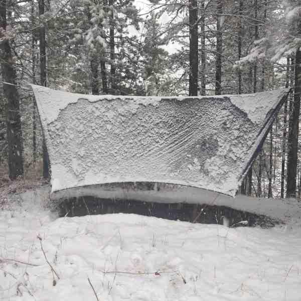 Summit 4 season tarp in the snow